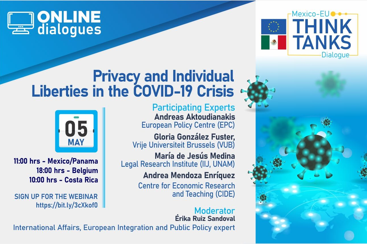 Logo of Webinar EU-Mexico Dialogue ThinkTanks