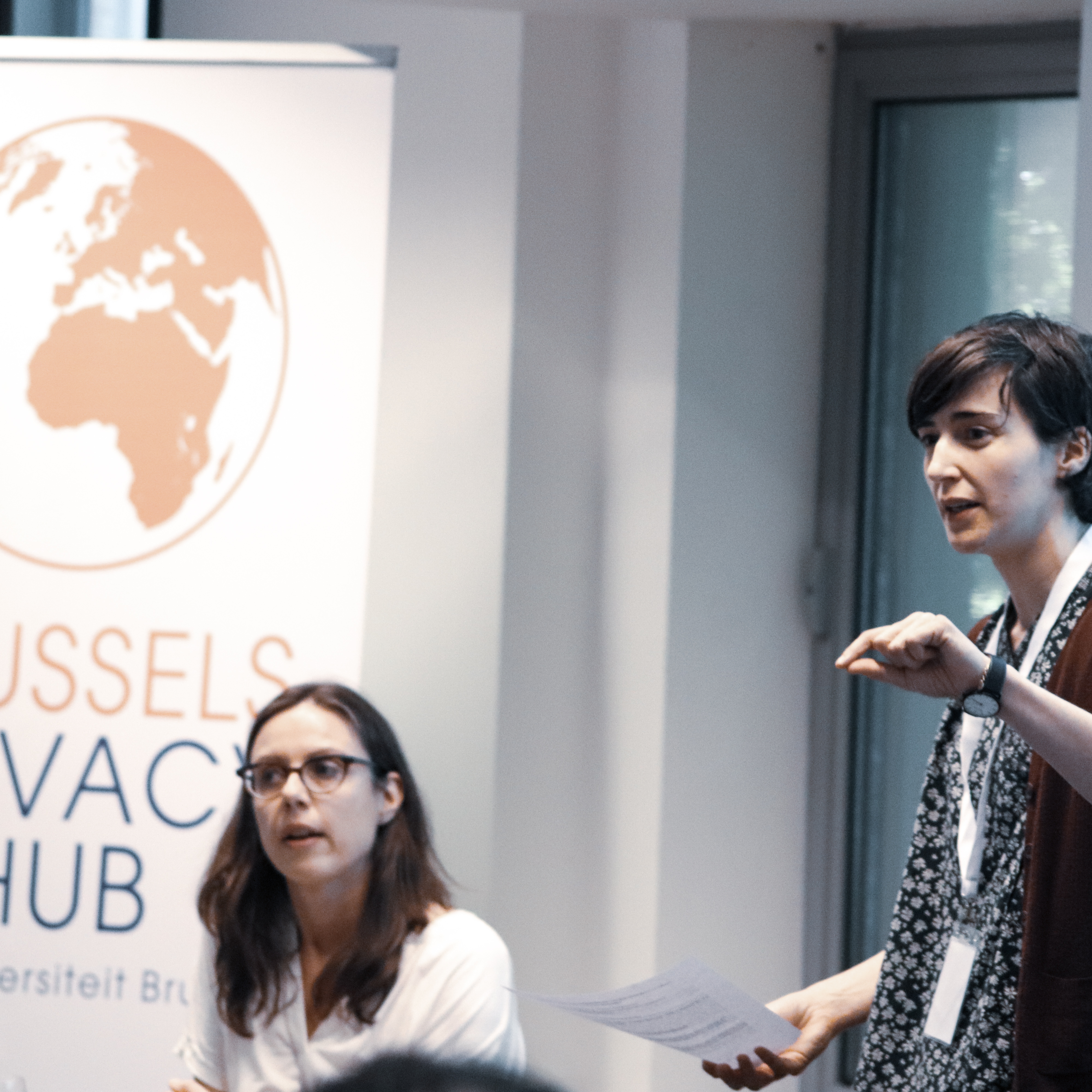 Gloria and Heidi teaching at the 2018 edition of the Summer School.