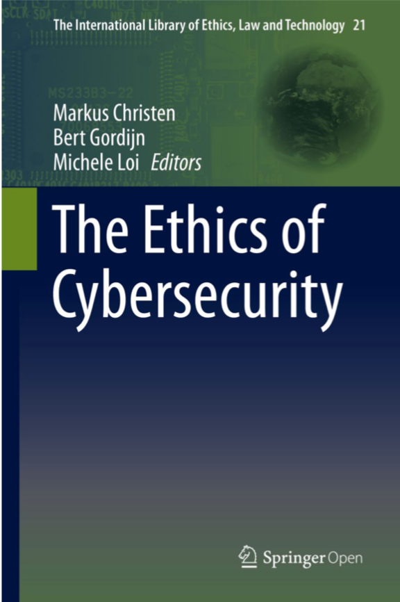 image of the Ethics of Cybersecurity book